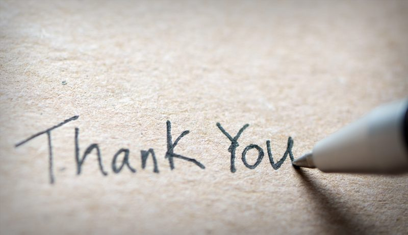 Saying 'Thank You' To Donors